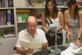 Análisis de muestras de material geológico