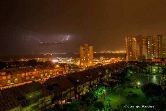 Tormenta nocturna en Alicante