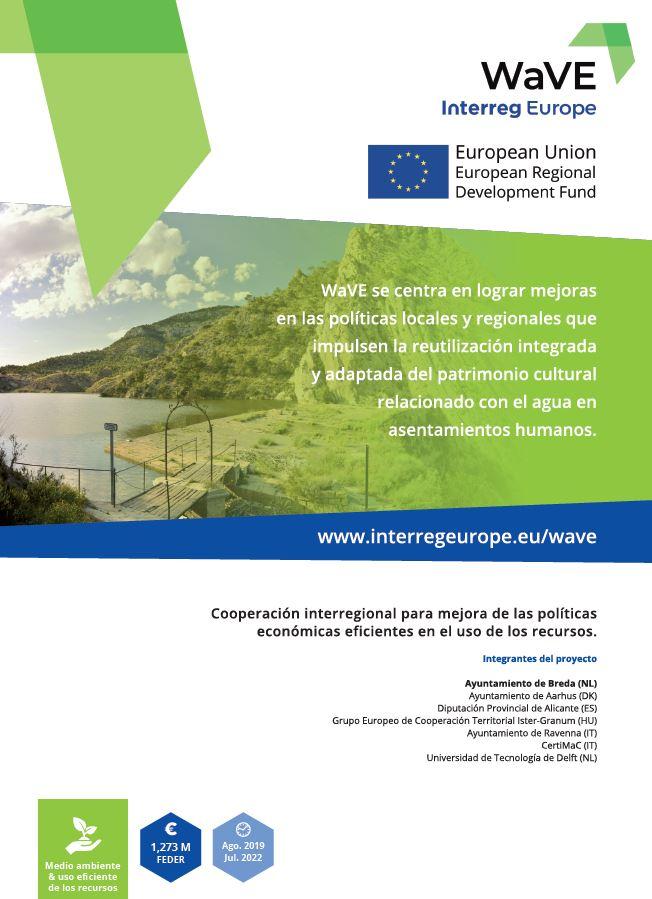 Cartel oficial del proyecto WaVE Interreg